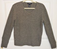 The Limited Size Large V Neck Sweater Wool Blend Womens Winter Wear Gray | eBay