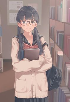 Book lover nd specty. My Anime Pretty Anime Girl, Kawaii Anime Girl, Beautiful Anime Girl, Anime Art Girl, Manga Girl, Anime Girls, Character Art, Character Design, Anime Drawings Sketches