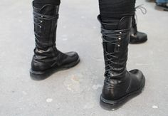 back lace boots