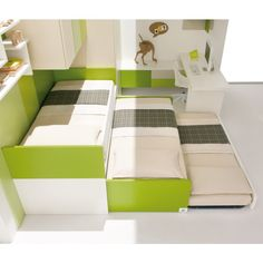 Lobby Basso sliding pull-out bed. I need this for my kiddos. Would save so much space!
