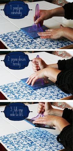 Make your own unique splashback with a few simple tiles and a tile stamp! Prep, apply, print and presto! Works on any flat surface!