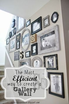 how to create a gallery wall, home decor, wall decor. Great tips for doing the upstairs hallway