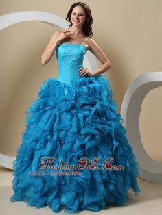 Teal Beaded Decorate Bust and Ruffles For Quinceanera Dress  http://www.fashionos.com  quinceanera dress to 16 girl | quinceanera dress with fitted waist | tiered quinceanera dress | teal quinceanera dress | layers of ruffles quinceanera dress | quinceanera dress in teal | how to find a quinceanera dress | gracious quinceanera dress | quinceanera dress teal | quinceanera dress blue | quinceanera dress with tiers of ruffles | teal strapless quinceanera dress |