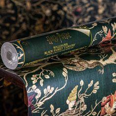 Black Family Tapestry Wallpaper (Back Order) - Harry Potter Wallpaper/Mural- MinaLima Harry Potter Nursery, Theme Harry Potter, Harry Potter Films, Harry Potter Houses, Harry Potter Props, Kids Wall Murals, Murals For Kids, Tapestry Wallpaper, Wall Wallpaper