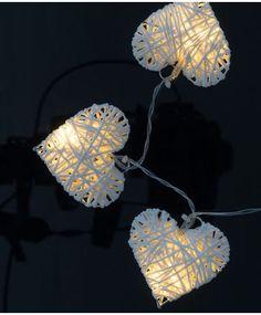 LED-Lichterkette - Papierherzen - ca. 100 cm günstig