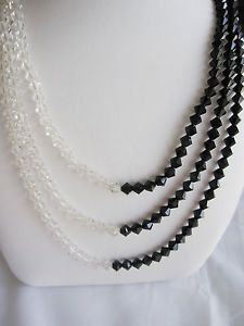 Two Tone Triple Strand Art Deco Necklace by TheJunkEmporium, $168.00