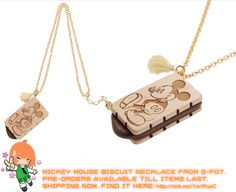 Super cute Mickey Mouse Biscuit Necklace!   #rinkya #japan #fromjapan #qpot #japanfashion