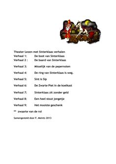 Theater lezen Sinterklaas