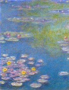 Water lilies dettail ~ Claude Monet