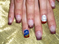 Basketball! March Madness nails.