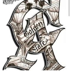C.A Chicano Tattoos, Chicano Drawings, Gangster Tattoos, Chicano Art, Body Art Tattoos, Tattoo Drawings, Sleeve Tattoos, Tattoo Art, Art Drawings
