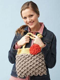 Mermaid Tears Purse | Yarn | Free Knitting Patterns | Crochet Patterns | Yarnspirations