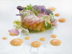 Amberjack Tartare with Avocado & Peaches - By Heinz Beck