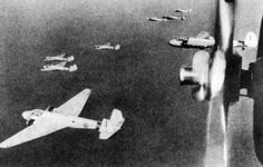 G3M1 and G3M2 bombers in flight, circa 1940s Source United States National Archives Identification Code 80-G-179013