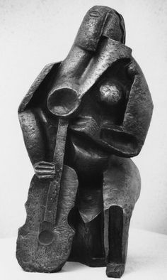 Ossip Zadkine, Seated Woman with a Lute