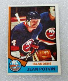 O PEE CHEE  1974-75 JEAN POTVIN ROOKIE HOCKEY CARD! #RC - NM. #OPC #NewYorkIslanders