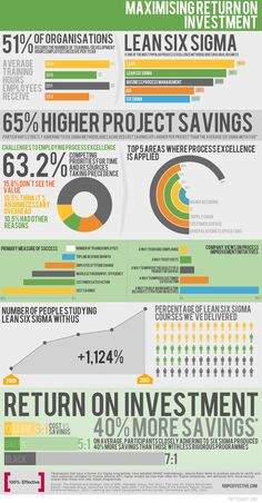 Lean Six Sigma Training Return on Investment Infographic