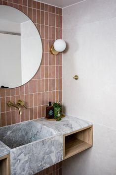 Bathroom Design, Noosa, Australia. Interior Photography. Marble Basin. Brass Tapware. Home Decor Signs, Retro Home Decor, Home Office Decor, Home Studio Photography, Interior Photography, Cheap Dorm Decor, Dorm Decorations, Bathroom Inspiration, Interior Inspiration