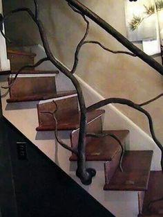 Wrought iron tree staircase