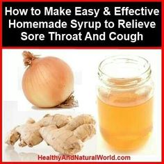 Sour throat and cough syrup