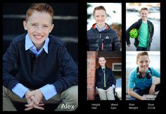 Kids Comp Card. If you want your child represented, this is a perfect example of what a composite card should look like!