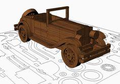Old car wooden model plans.