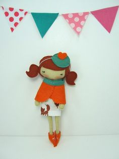 Pocket Studio Doll with cute pattern banner