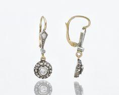 Piękne stare kolczyki z diamentami. Personalized Items