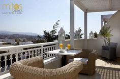 Naxos hotel, Mitos is an Agios Prokopios hotel in Naxos that offers luxury stay near the beach. Mitos hotel for your holidays, wedding or honeymoon in Naxos. Naxos Greece, Greece Hotels, Outdoor Spaces, Outdoor Decor, Luxury Accommodation, Breakfast In Bed, Hotel Suites, Stunning View, Terrace