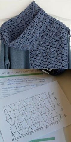 golas de trico This would make a beautiful throw Crochet Bolero Pattern, Crochet Ripple, Crochet Motifs, Crochet Diagram, Crochet Stitches Patterns, Crochet Chart, Free Crochet, Crochet Scarves, Crochet Clothes