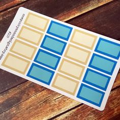 New to OnePunkyMamaDesign on Etsy: Digital File: Half Size Blank Box Stickers for Erin Condren (ID109) (3.00 USD)
