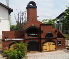 backyard design – Gardening Tips Small Backyard Patio, Backyard Kitchen, Backyard Patio Designs, Back Patio, Barbeque Design, Outdoor Smoker, Backyard Fireplace, Outdoor Living, Outdoor Decor