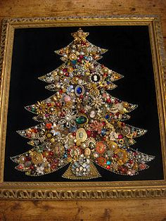 Jewelry Christmas Tree. Saw one of these in the antique shop the other day but it also had lights poking out of it. so fun! I wanna make one