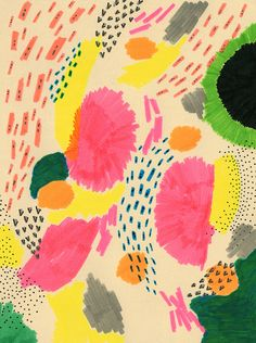 Ashley Goldberg reminding us of the creative power of the humble felt tip pen. Look at that lovely texture.
