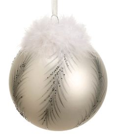 Take a look at this White & Silver Fluffy Feather Ornament by Holiday Shine: Home Décor on #zulily today!