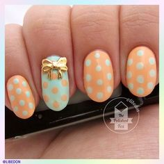 Tie it up with a bow: We're loving this playful spin on polka dots from libedon! Remember, show us your springtime manis! Use #SephoraSpring & you could be featured on our Pinterest and Instagram!