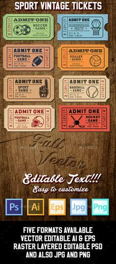 Playoff Party Ticket Party tickets, Ticket template and Print - party tickets templates