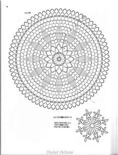 ISSUU - Crochet motif by vlinderieke Crochet Doily Diagram, Crochet Doily Patterns, Crochet Chart, Crochet Mandala, Thread Crochet, Filet Crochet, Crochet Flowers, Crochet Stitches, Crochet Dreamcatcher