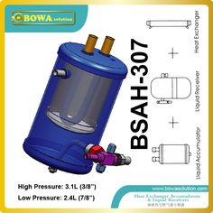 Hight quality Accumulators combined with receivers refrigerant heat exchanger suitable for blast freezer equipments Refrigeration And Air Conditioning, Heat Exchanger, Refrigerator Freezer, Heat Pump, Cool Things To Buy, Chill, Home Appliances, Watch, Compact