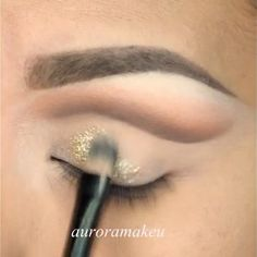 Gorgeous gold glitter look [click picture for video tutorial]