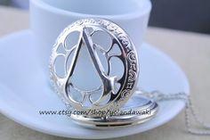 Assassin's Creed pocket watch necklace by yolandawaki on Etsy, $6.99