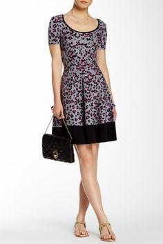 Cyber Cheetah Print Sweater Dress