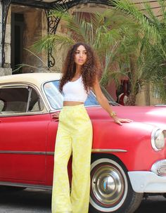 ecstasymodels:  STREETS OF HAVANA, CUBA  Wearing: V Label palazzo pants / Zara top / Pieces sandals / Bracelet souvenir from Colombia  Fashion By From Hats To Heels
