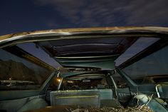 1965 Oldsmobile Vista Cruiser Wagon at the abandoned Pearsonville junkyard.