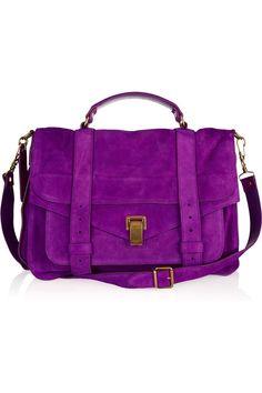 proenza schouler ps1 purple suede. I AM IN LOVE