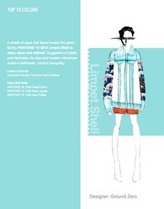 NYFW Pantone Color Report. Top 10 Colors - Limpet Shell. Designer: Ground Zero