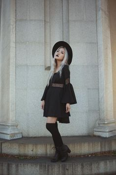 21 year old freelance model and goth enthusiast. Modern Witch Fashion, Dark Fashion, Gothic Fashion, Autumn Fashion, Modern Grunge Fashion, Coven Fashion, Looks Style, My Style, Divas
