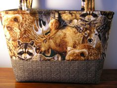 Free Shipping   Wilderness Wild Life Handmade  Purse by Joanna1966, $28.00