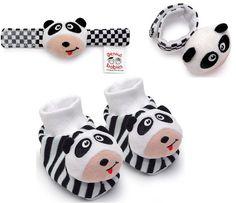 Infant Toy Set - Panda Footies