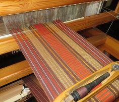 Gangewifre Weaving: Supplementary Warp - Weaving Progress